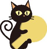 黒猫クロスケの突撃!隣の猫ごはん